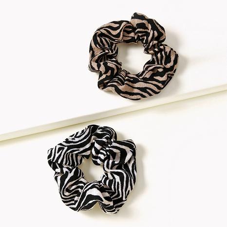 Retro zebra pattern hair scrunchies NHGE287465's discount tags