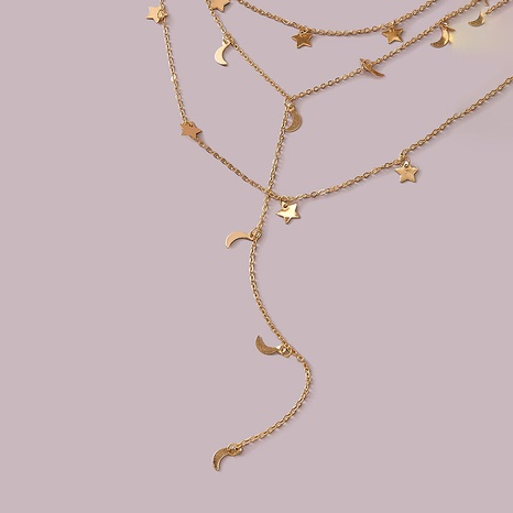 collar de borla de tres capas con colgante de estrella de cinco puntas de aleación de moda NHGY287754's discount tags