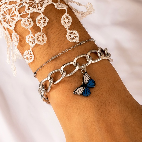 butterfly pendant chain bracelet  NHGY287736's discount tags