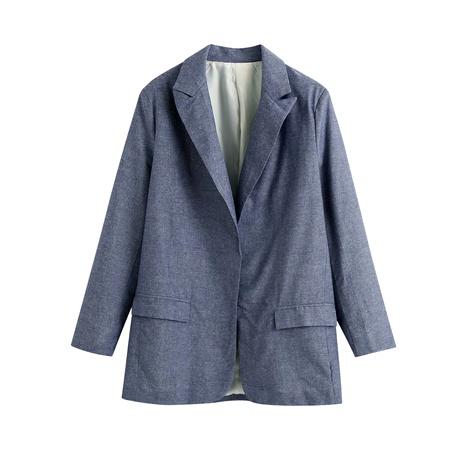 blazer casual de mujer sin marcas de botones NHAM287317's discount tags