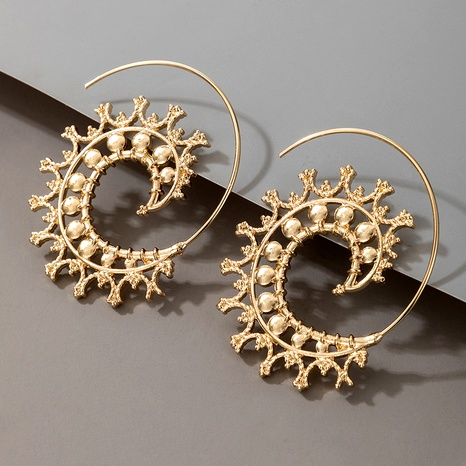 Round Spiral Earrings  NHGY287564's discount tags