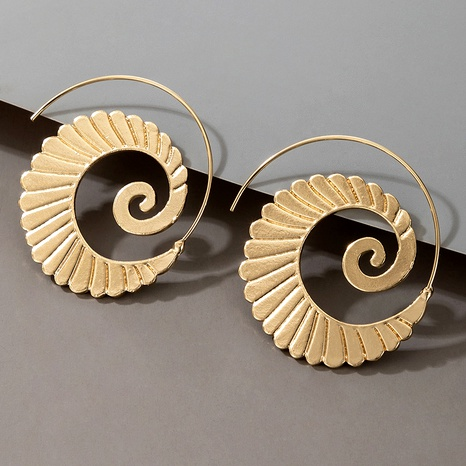fashion bohemian retro alloy spiral earrings  NHGY287566's discount tags
