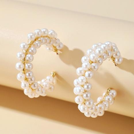 moon pearl beaded earrings NHGY287565's discount tags
