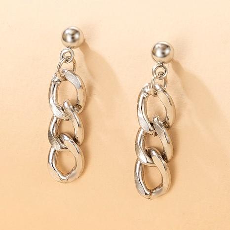 retro metal chain earrings NHGY287569's discount tags