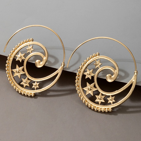 star spiral heart-shaped retro earrings NHGY287571's discount tags