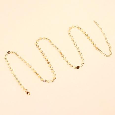 metal sequin waist chain NHRN287591's discount tags