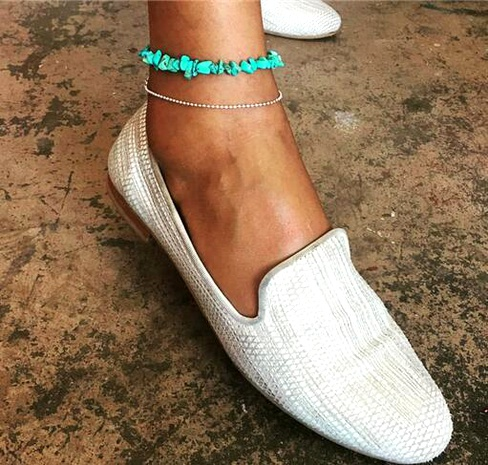 Fashion  popular turquoise women's anklet  NHAJ287606's discount tags