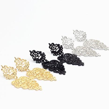 bohemian hollow leaf fashion earrings NHPF287611's discount tags