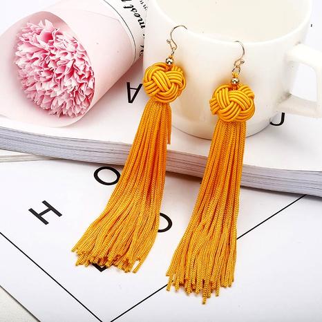 fashion bohemian long tassel earrings NHPF287614's discount tags