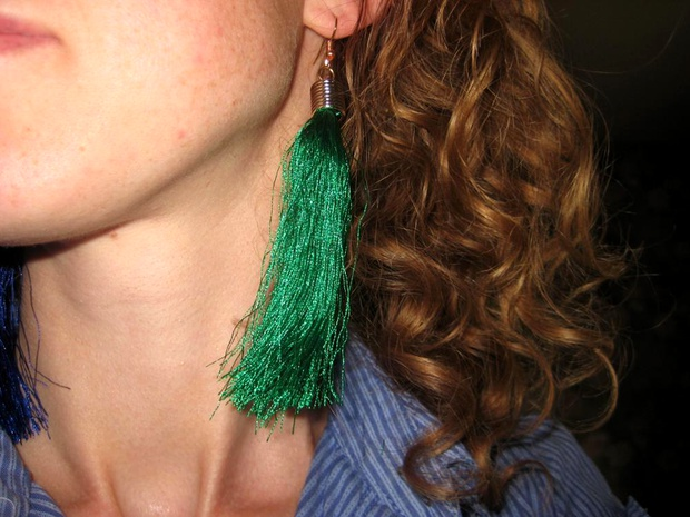 fashion tassel long earrings  NHPF287616's discount tags