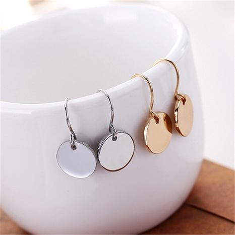 metal mini disc round earrings  NHPF287623's discount tags