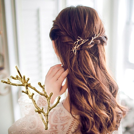 Christmas fashion antlers branch metal hairpin NHGE287627's discount tags