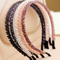 Diadema hecha a mano de cristal de doble fila súper intermitente de moda coreana NHGE287628