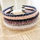 Korean fashion super flashing double row crystal handmade headband NHGE287628