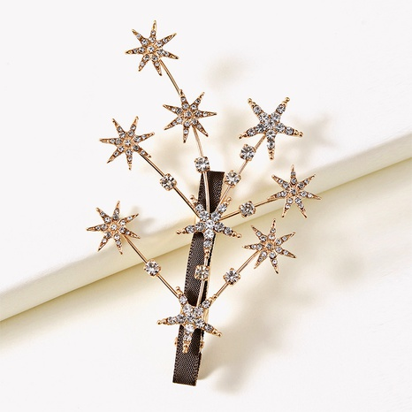 rhinestone five-pointed star branch hairpin  NHGE287644's discount tags
