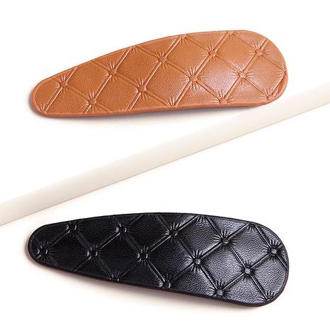 fashion PU soft leather hair clip  NHGE287649's discount tags