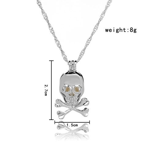 fashion  evil skull pearl necklace NHAN287652's discount tags