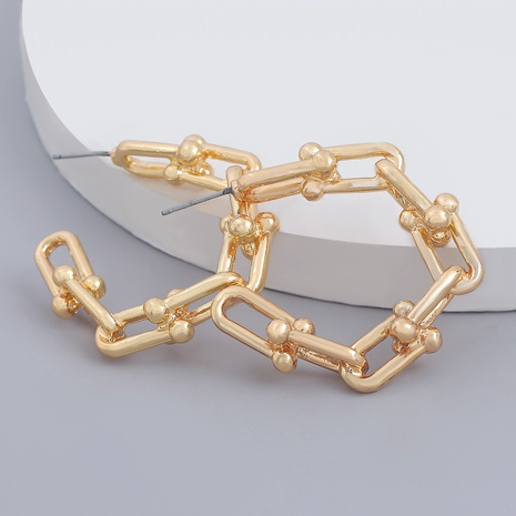 c-shaped chain alloy earrings  NHJE287674's discount tags