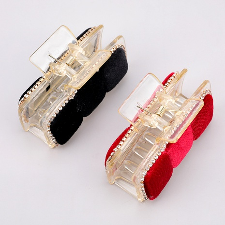 flannel resin diamond-studded hairpin  NHJE287687's discount tags