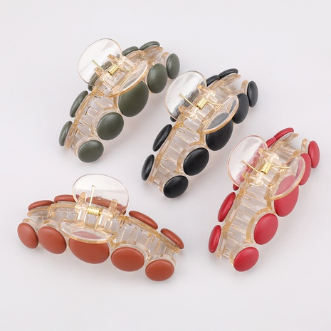 resin leather fashion grab clip  NHJE287688's discount tags