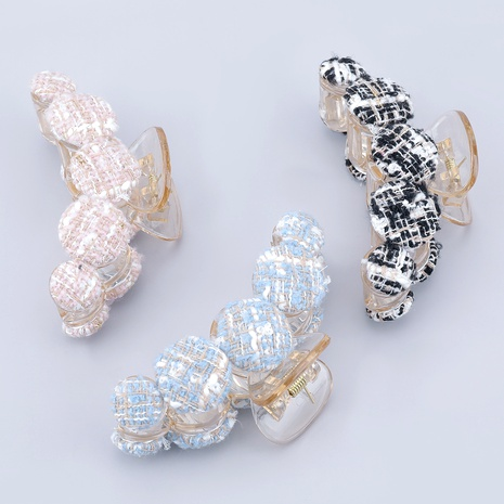 cotton resin fashionable hair grab clip NHJE287690's discount tags