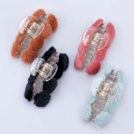 hair ball resin hairpin  NHJE287691's discount tags