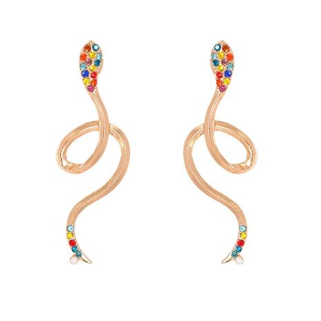 simples aretes de moda exagerados en forma de serpiente NHJJ287692's discount tags