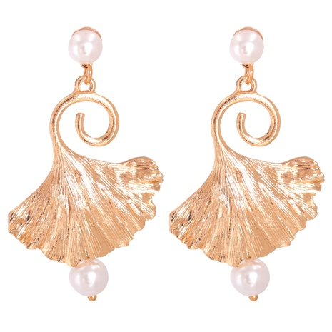 exaggerated alloy pearl shell long earrings  NHJJ287693's discount tags