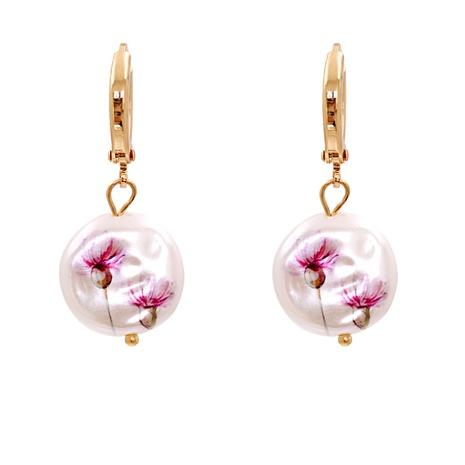 shell print pendant earrings  NHJJ287694's discount tags