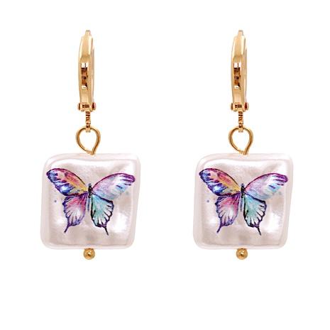 shell print pendant earrings  NHJJ287695's discount tags