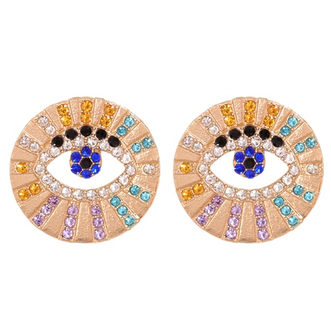 Devil's Eye Exaggerated Earrings NHJJ287696's discount tags