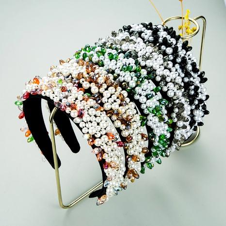 nueva diadema de perlas cosidas a mano de rystal NHLN287709's discount tags