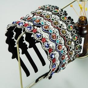 glass diamond color full diamond crown-shaped fashion  headband NHLN287712