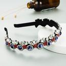 glass diamond color full diamond crownshaped fashion  headband NHLN287712