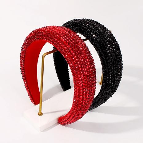 Baroque fashion thick sponge diamonds headband NHMD287718's discount tags