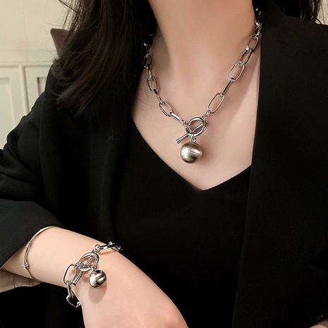 fashion necklace bracelet set NHMD287730's discount tags