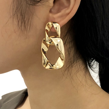 large chain punk style fashion alloy earrings NHMD287732's discount tags