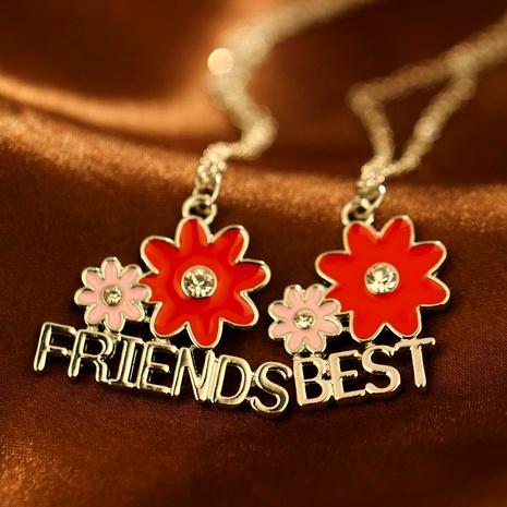 creative fashion new  sunflower diamonds good friend necklace NHAN287766's discount tags