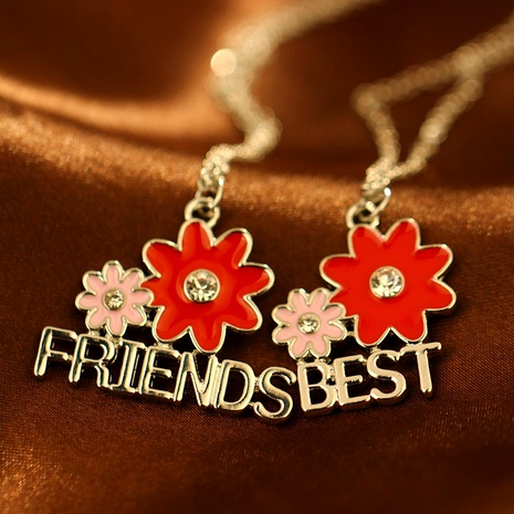 creative fashion new  sunflower diamonds good friend necklace NHAN287766's discount tags
