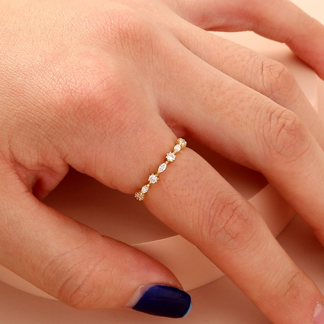 fashion zircon simple ring  NHAN287778's discount tags