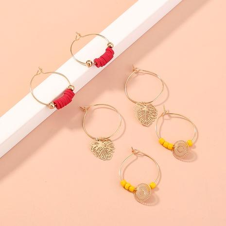 circle leaves rice beads earrings set NHAN287783's discount tags