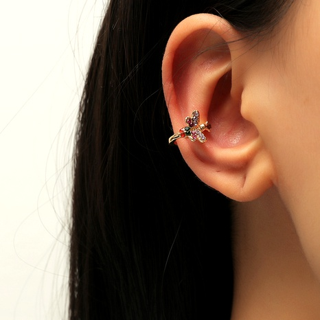 fashion retro new butterfly ear clip NHKQ287814's discount tags