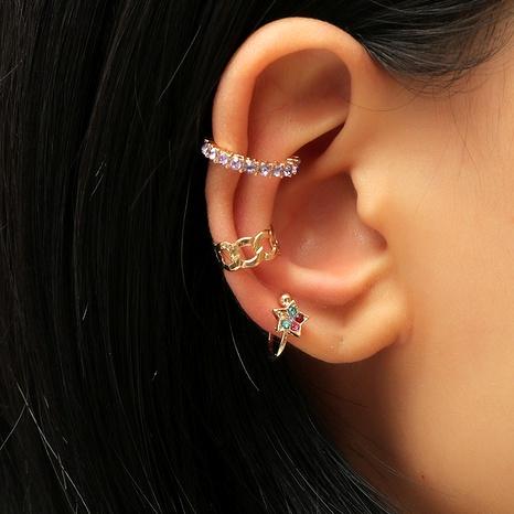 Retro simple  geometric hollow alloy diamond set ear clip  NHKQ287817's discount tags