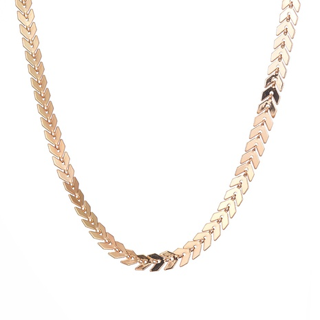 simple metal wave pattern necklace NHOA287824's discount tags