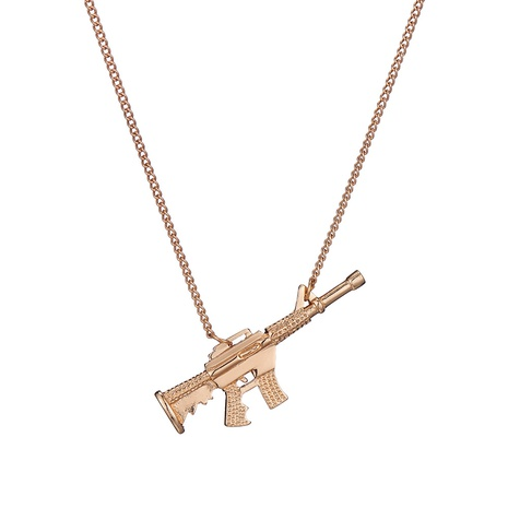 copper pendant machine gun necklace NHOA287827's discount tags