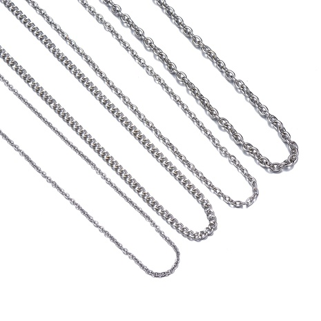 simple metal chain necklace  NHOA287830's discount tags