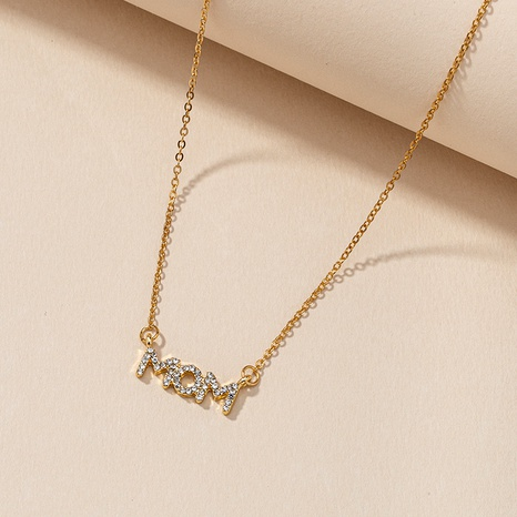 MOM Diamond Necklace NHGU287895's discount tags