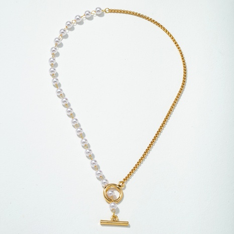 fashion pearl pendant necklace NHQJ287904's discount tags