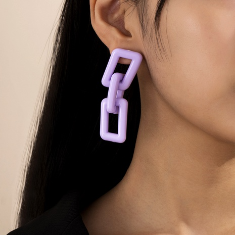 new exaggerated geometric square acrylic earrings  NHXR287947's discount tags
