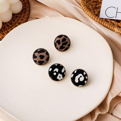 nuevos pendientes de botón con estampado de leopardo de moda NHMS287975's discount tags